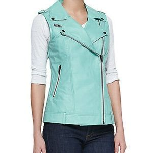 Bagatelle City Designer Genuine Leather Vest Moto